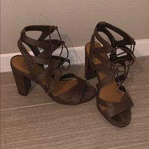 Swede 3-inch heels from frock candy